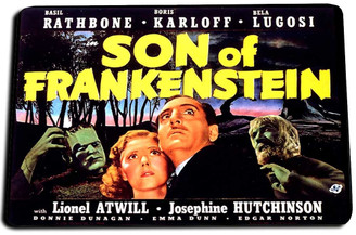 Son of Frankenstien Movie Door Mat Rug