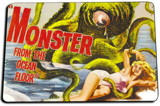 Monster from the Ocean Floor Movie Door Mat Rug