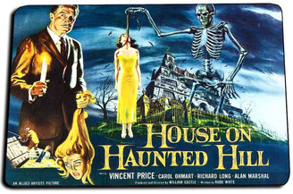 House On Haunted Hill Movie Door Mat Rug