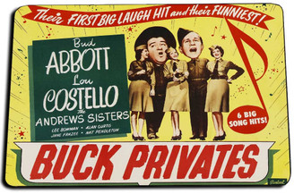 Abbott & Costello Buck Privates Movie Door Mat Rug
