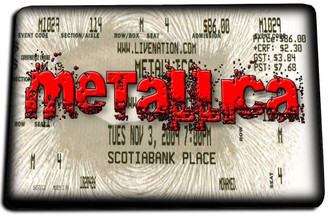 Metallica Concert Ticket Door Mat Rug