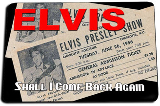 Elvis I Shall Come Back Again Door Mat Rug