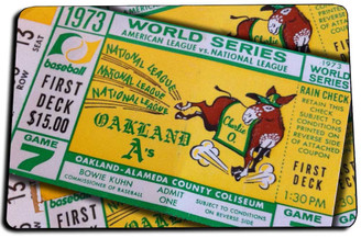 1973 World Series Ticket Door Mat Rug