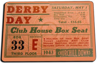 1943 Derby Day Ticket Stub Door Mat Rug