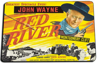John Wayne Red River Movie Poster Door Mat Rug