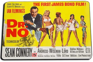 Dr. No Movie Poster Door Mat Rug