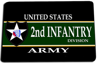 2nd Infantry Division Door Mat Rug