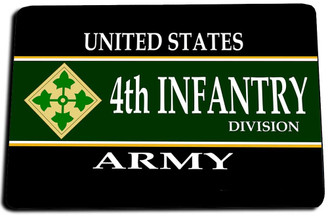 4th Infantry Division Door Mat Rug
