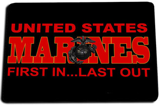 US Marines First In Last Out Door Mat Rug