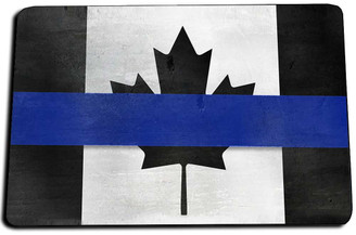 Canadian Thin Blue Line Door Mat Rug