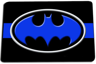 Batman Thin Blue Line Door Mat Rug
