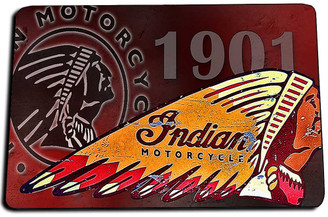1901 Indian Motorcycle Door Mat Rug