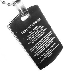 The Lord's Prayer Tungsten Key Ring Pendant