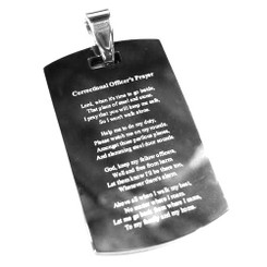 Correctional Officer's Prayer Key Ring Pendant