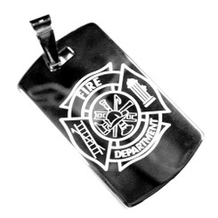 Maltese Cross Tungsten Dog Tag