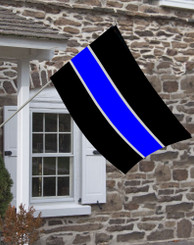 Thin Blue line flag for police, sheriff, law enforcement.