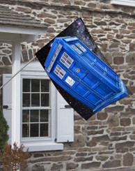 Dr. Who Police Box House Flag.