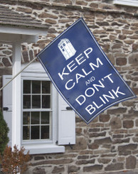 Dr. Who Keep Calm Don't Blink House Flag