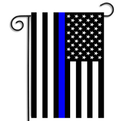 Thin Blue Line Subdued American Garden Flag
