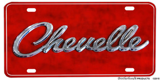Chevelle Logo Aluminum License Plate