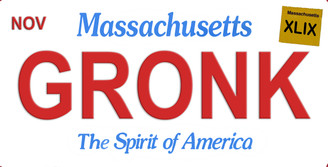 Massachusetts Gronk Aluminum License Plate