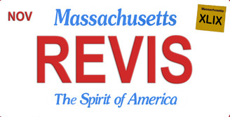 Massachusetts Revis Aluminum License Plate