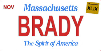 Massachusetts Brady Aluminum License Plate