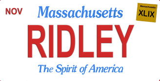 Massachusetts Ridley Aluminum License Plate