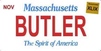 Massachusetts Butler Aluminum License Plate