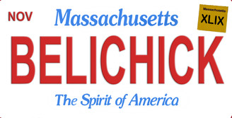 Massachusetts Belichick Aluminum License Plate