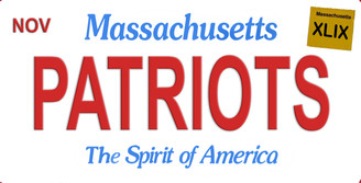 Massachusetts Patriots Aluminum License Plate