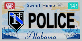 Alabama One Ass To Risk Police License Plate