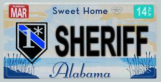 Alabama One Ass To Risk Sheriff Aluminum License Plate