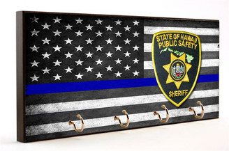 Thin Blue Line State of Hawaii Sheriff Key Hanger