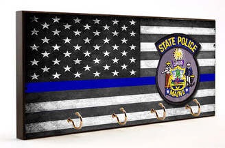 Thin Blue Line Maine State Police Key Hanger