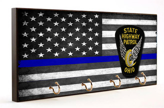 Thin Blue Line Ohio State Highway Patrol Key Hanger