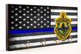 Thin Blue Line Vermont State Police Key Hanger