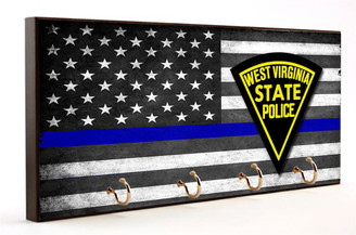 Thin Blue Line West Virginia State Police Key Hang
