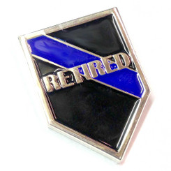 Thin Blue Line RETIRED Police Patrol Lapel Pin Package of Two