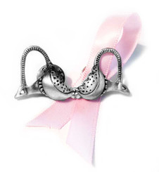 Antique Silver Finish Comes With The Pink Awareness Ribbon
