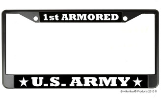US Army 1st Armored License Plate Frame