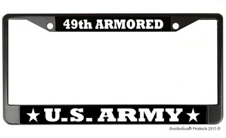 US Army 49th Armored License Plate Frame