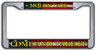 Molon Labe Come And Take It License Plate Frame