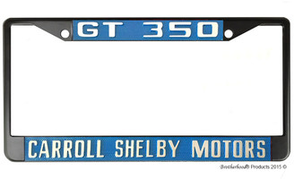 GT 350 Carroll Shelby Motors License Plate Frame