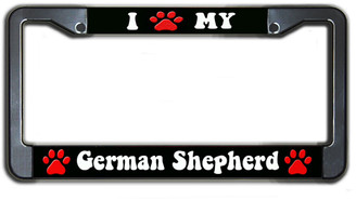 I Paw My Greman Sheperd License Plate Frame