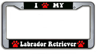 I Paw My Labrador Retriever License Plate Frame