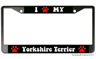 I Paw My Yorkshire Terrier License Plate Frame