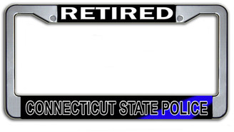 Retired Connecticut State Police License Plate Frame