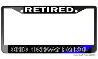 Retired Ohio State Highway Patrol  License Plate Frame