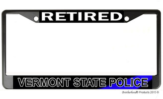 Retired Vermont State Police  License Plate Frame